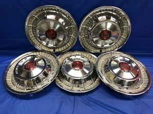 Vintage Set Of 5 1957 Buick 15 Hubcaps Century Roadmaster Super Special Gc