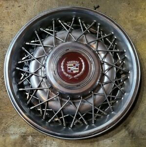 1 1986 1992 Cadillac Brougham 15 Wire Spoke Hubcap Wheel Cover 0b 10201267