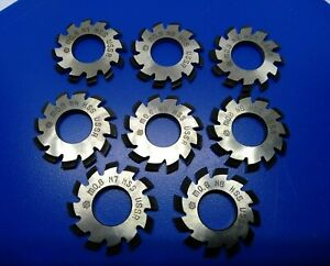 Set 8pcs Module M0 8 Inner Bore 13mm 1 8 Hss Involute Gear Cutters Disk shaped