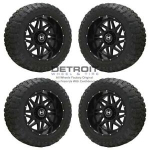 22 Chevrolet Silverado 2500 Satin Black Wheels Rims Tires Oem Set 4 2011