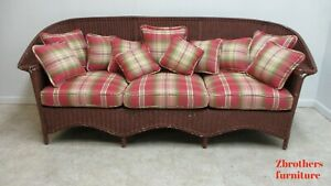Antique Art Deco Wicker Patio Living Room Sofa Couch Love Seat Settee