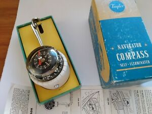 Vintage Nos New Old Stock Lighted Compass Rat Rod Custom Low Rider