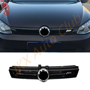 For Vw Golf 7 Abt 2018 2020 Glossy Black Bumper Grille Grill Sport Style Look