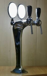 New Draft Beer Tower Double Lighted Faucet Pump olumn