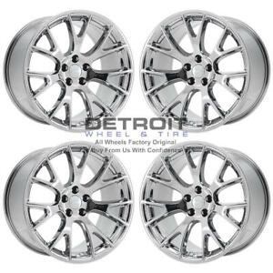 20 Dodge Challenger Pvd Bright Chrome Wheels h Rims Factory Oem 2528 Exchang