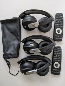 Oem 3 Mercedes Benz Akg Headphones 2 Dvd Entertainment Remote Controls