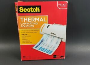 Scotch Letter Size Thermal Laminating Pouches 5 Mil 11 1 2 X 9 100 Pack 90