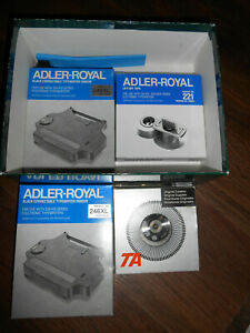 2 Adler Royal Ribbon 246 Xl1 Lift Off Tape 221 For 310 410 Electric Typewriters
