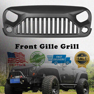 Angry Bird Front Gladiator Grille For Jeep Wrangler 07 18jk Unlimited Black