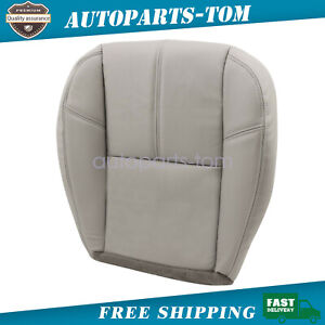 For 2007 2013 Chevy Silverado 1500 Driver Bottom Leather Seat Cover Gray 833
