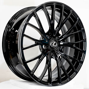Set Of 4 Lexus Ls460 Ls600h 20x8 5 Jet Black Wheels Rims Ls600 Ls 600h 460 20