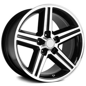 4 22x8 5 Iroc Wheels Black Machined 5 Lugs Rims B45