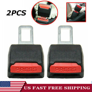 2pcs Car Seat Belt Clip Alarm Stopper Extension Extender Plug Buckle Warranty