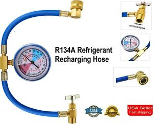 Universal Car Air Conditioning Ac R134a Refrigerant Recharge Hose Measure 1 2 Us