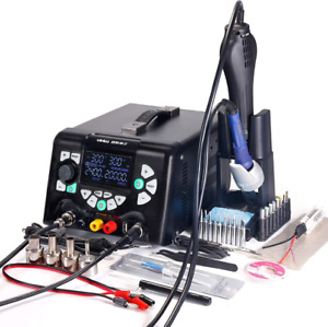 4 In 1 Hot Air Rework Soldering Iron Station Dc Power Supply Yihua 853d 5a ii 30