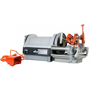 Reconditioned Ridgid 1224 Pipe Threading Machine 26092 With 711 714 Die Heads