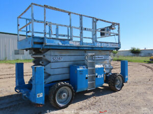 2002 Genie Gs5390 53 4wd Rough Terrain Scissor Lift Platform Bidadoo repair