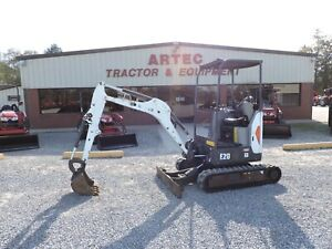 2016 Bobcat E20 Min Excavator Good Condition Watch Video Only 983 Hours