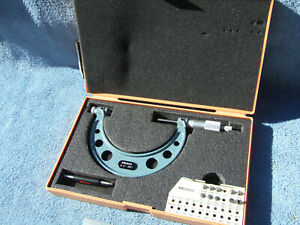 Thread Micrometer 3 4 Mitutoyo 126 140 W anvils Over 1200 When New Toolmaker