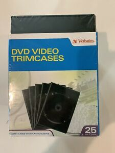 25 Pack Dvd cd Disc Trimline Storage Cases Brand New And Factory Sealed Look