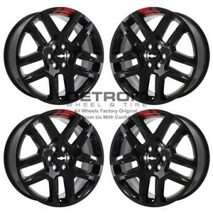 20 Chevrolet Blazer Gloss Black Red Line Exchange Wheels Rims Factory Oem