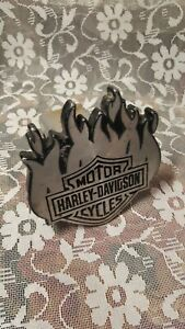 Harley Davidson 2 Hitch Cover Used Flames 3 Plug