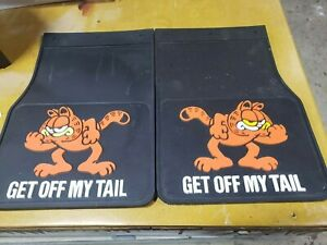Vintage Garfield Get Off My Tail Truck Mud Flaps Guards Rubber 12 X 18 New