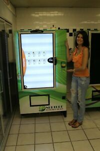 Vending Machine With Video And Touchscreen Selection Sell Advertise