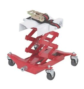 450 Lb Low Lift Transmission Jack 7 1 4 To 23 1 4 Lift Height Inc Strap Cradle