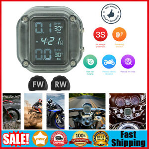 Motorcycle Tpms Usb Rechargeable Tire Pressure Monitoring System Waterproof
