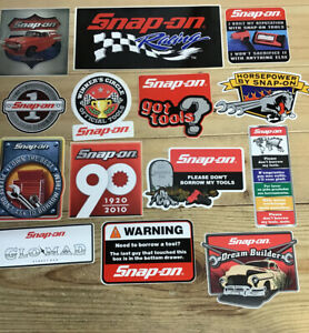 New Vintage Snap on Tools Lot 14 Tool Box Stickers Decals Man Cave Window 2