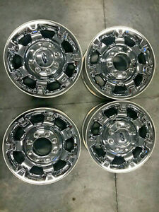 18 Ford F 250 F250 Superduty Chrome Alloy Wheels F350 Oem Rims 18 Set