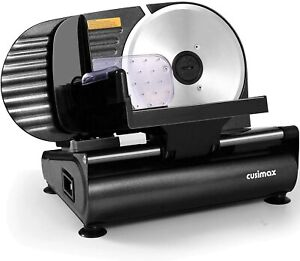 Cusimax Meat Slicer 200w Electric Deli Food Slicer With 7 5 Removable Stain