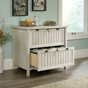 Wooden Lateral File Cabinet Locking Drawers Letter legal Size Storage Organizer