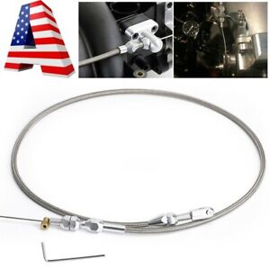For Ls Engine 36 Stainless Steel Braided Throttle Gas Cable Ls1 4 8 5 3 5 7 6 0