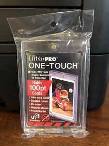 5 Ultra Pro One touch Thick Card 100pt Point Magnetic Card Holder Lot Of 5