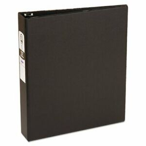Avery Economy Non view 1 5 Binder Round Rings 11 X 8 5 Black ave03401