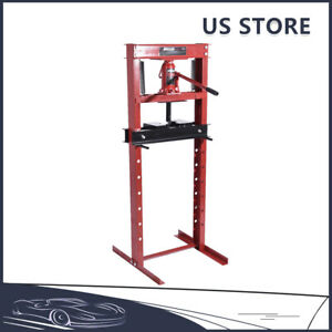 Titan 12 Ton Hydraulic Shop Floor Press H Frame 24000 Lb Heavy Duty Steel 99 Lb