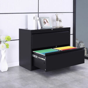 Heavy Duty Steel Lateral File Filing Cabinet W lock 2 Drawer Letter legal Size