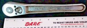 Vtg Snap on Mechanics Tools Ratchet Wrench 1 2 Drive Sv 71a Made In Usa