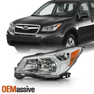Fit 2014 2016 Subaru Forester Oe Halogen Style Chrome Headlights Driver Side
