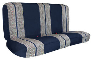 Full Size Car Bench Seat Cover For Chevy Dodge Ford Trucks Front Seat Blue