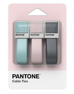 Pantone High Grade Silicone Cable Ties 3 In One Set
