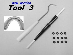 Tool 3 Insertion Aid For Mini Micro Dental Implant Rubber O rings 12 O rings