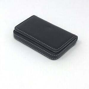 Wastar Stylish Magentic Business Card Holder Premium Pu Leather With Storage Bag