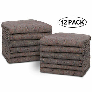 53x74 Inch Heavy Duty 12 Moving Blankets Professional Quality Quilted
