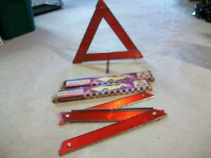 2 Safety Reflecting Triangles With Vintage Boxes
