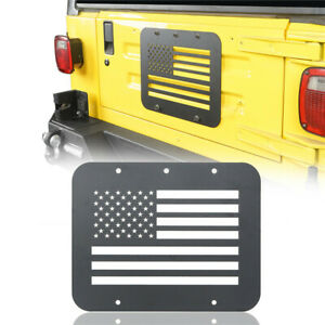 Usa Flag Spare Tire Tailgate Vent Plate Cover For Jeep Wrangler Tj 1997 2006