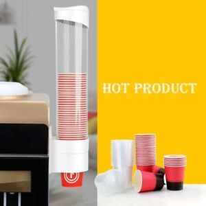 Paper Cup Dispenser Plastic Cups Holder One Touch Button Anti Dust 5 7 5cm Cup