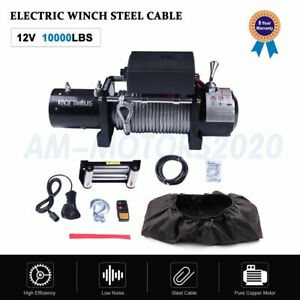 10000lbs Waterproof Ip68 Electric Winch With Steel Rope And Winch Cover